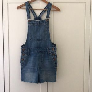 Madewell Short Overalls, Small